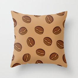Pattern - Coffee Beans Throw Pillow