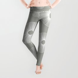 gray sand dollars Leggings