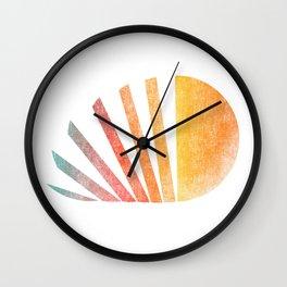 Raising sun (rainbow-ed) Wall Clock