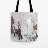 farm Tote Bags featuring Farm by Kirsten zuiderbaan