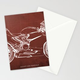 02- D Superbike 1299 Panigale 2015 red Stationery Cards