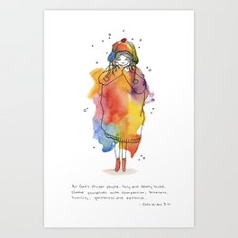 Clothed with Love Art Print