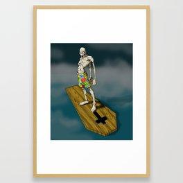 The Dead Kahuna (Surf Zombie) Framed Art Print