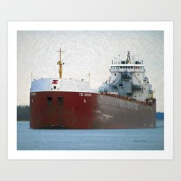 Freighter CSL Niagara Art Print