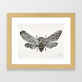 Summer Cicada – Black Palette Framed Art Print