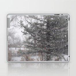 Soft snow falling Laptop & iPad Skin