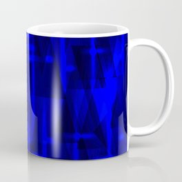 Bright dark blue highlights on marine triangles and metal stripes. Coffee Mug