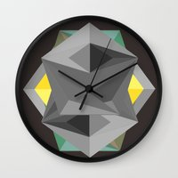 shield Wall Clocks featuring Shield by Tracy
