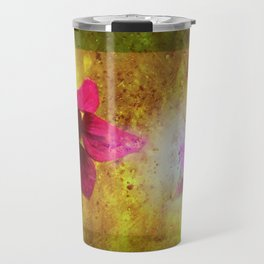 marriage of Titania; Salmon berry floral duet Shakespearean hidden pictures Travel Mug