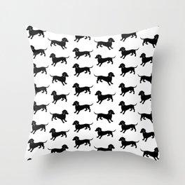Dachshund Pattern Throw Pillow