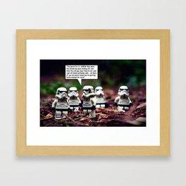 Force Choked =) Framed Art Print