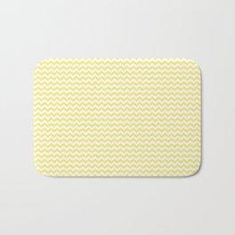 Chevron Yellow Bath Mat