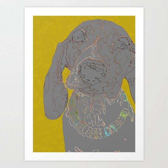 """""""The Scribbler"""" ~ Dachshund, Weiner Dog, Doxie, everywhere!  Art Print"""