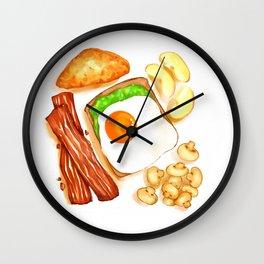 Breakfast platter Wall Clock