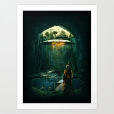green layer Art Print