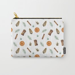Christmas pattern with citrus and cinnamon Carry-All Pouch