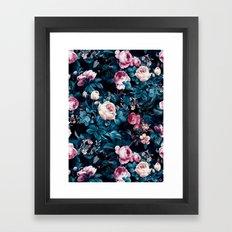 Roses Blue Framed Art Print