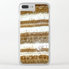 Banded Aragonite Clear iPhone Case