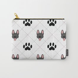 Black German Shepherd Paw Print Pattern Carry-All Pouch