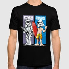 Storm and Sunny Day Trooper Black Mens Fitted Tee MEDIUM