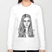 cara delevingne Long Sleeve T-shirts featuring Cara Delevingne by Sharin Yofitasari