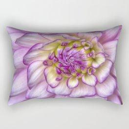 Pink Zinnia Close Up Rectangular Pillow
