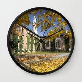Nassau Hall Autumn Scenic Wall Clock