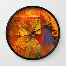 Curlicue Universe Wall Clock