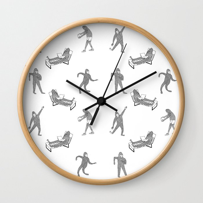 The Secret Life of Bigfoot Wall Clock
