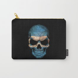 Dark Skull with Flag of Honduras Carry-All Pouch