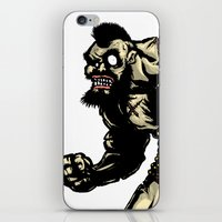 street fighter iPhone & iPod Skins featuring Bear Wrestler - Street Fighter by Peter Forsman