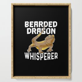 Funny Bearded Dragon Pet Lizard Lover Reptile Gift Serving Tray