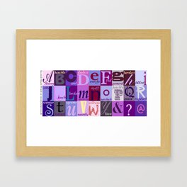 Scottish Snash Words Alphabet Framed Art Print