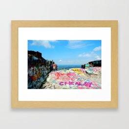 The Cliff Framed Art Print