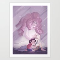 Rose is with you~ Art Print