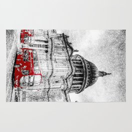 St Paul's Cathedral London Snow Rug