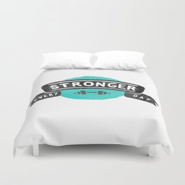 Stronger Every Day (dumbbell) Duvet Cover