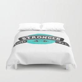 Stronger Every Day (dumbbell) Duvet Cover