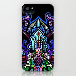 lotus heart temple iPhone Case