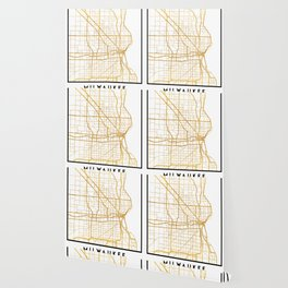MILWAUKEE WISCONSIN CITY STREET MAP ART Wallpaper