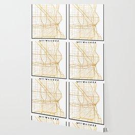 MILWAUKEE WISCONSIN CITY STREET MAP ART Wallpaper
