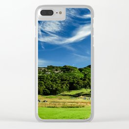 Summer Landscape Clear iPhone Case