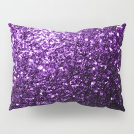 Beautiful Dark Purple glitter sparkles Pillow Sham