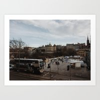 edinburgh Art Prints featuring Edinburgh by Nicola Jewell