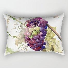 Grapes, California Vineyard Wine Lover design Rectangular Pillow