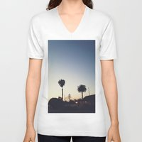 san diego V-neck T-shirts featuring Old Town, San Diego by George Elder