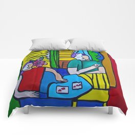 Queen of Hearts  #society6 #decor #buyart Comforters