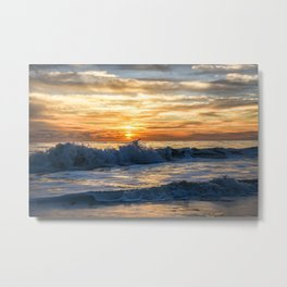 Waves Will Crash but the Sun Will Always Rise Metal Print