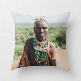 Karo Tribeswoman III Throw Pillow