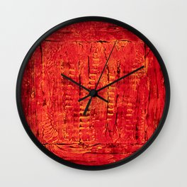 Ladders (Red Abstract) Wall Clock
